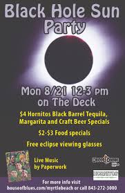 total solar eclipse celebration at house of blues myrtle beach on