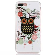 floral owl new cute protective case holder cover accessories for