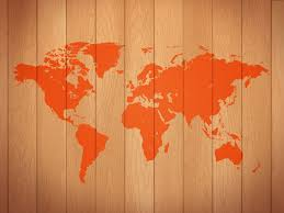 World Map Wood Wall Art by Wooden World Map Psdgraphics