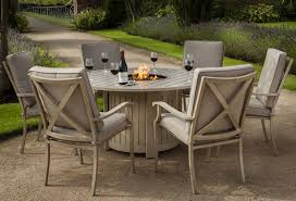 Firepit Set by Gray Outdoor Propane Fire Pit Tables Dining Height Gas Table With