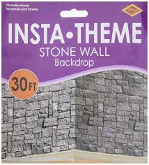 halloween scene setters amazon com stone wall scene setter toys u0026 games