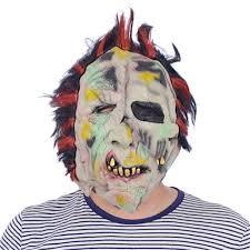 Realistic Halloween Costumes Aliexpress Com Buy Horror Zombie Bloody Bane Full Face Halloween
