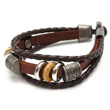 leather bracelets for men men women brown punk bracelet vintage leather bangle wrist at banggood