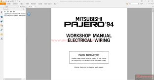 mitsubishi chassis and electrical wiring manual auto repair
