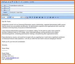 cover letter email sample email cover letter example cover