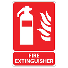 rectangular plastic fire extinguisher sign pse 0012 the home depot