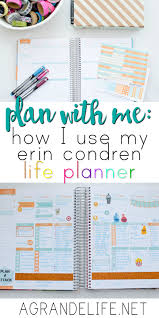 Home Planner by How I Use My Erin Condren Life Planner To Organize Work And Home