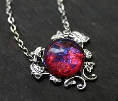 red opal necklace images Dragons breath fire opal necklace jpg