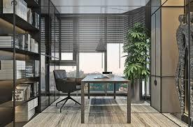 le bureau verte meubles gris et déco verte pour aménager un intérieur monochrome