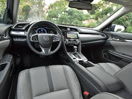 inside of a honda civic comparison test 2016 honda civic and 2017 hyundai elantra ny