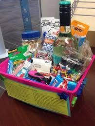 we made this new job survival kit for a co worker leaving we