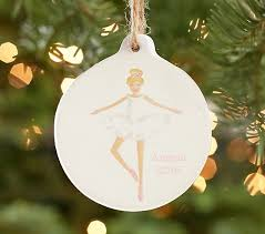 ballerina personalized ornament pottery barn