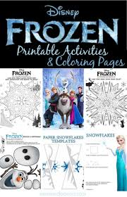 20 free disney frozen printables activity sheets u0026 party decor