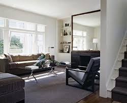 large sunburst mirror living room transitional with coffee table