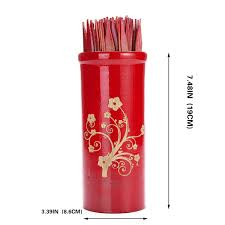 chinese fortune telling sticks w instruction booklet red bamboo