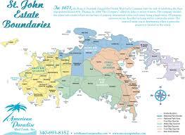 road map of st usvi st island road map on johns world maps