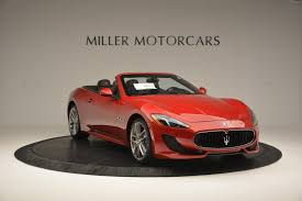 red maserati granturismo 2017 maserati granturismo cab sport stock m1639 for sale near