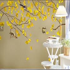 aliexpress com buy wallpaper birds gingkgo leaves entrance