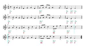 deck the halls christmas song sheet music guitar chords