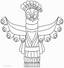 homey ideas totem pole outline clipart animal outlines blank