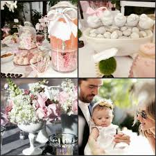 centerpieces for bautizo pink and gray chevron baptism