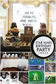 wars party ideas may the four ce be with you classic wars boys birthday party