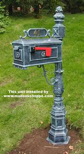 Aluminum Pedestal Traditional Mailbox 1 Cast Aluminum Pedestal Mailboxes