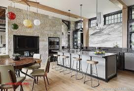 salon cuisine idee deco salle a manger cuisine moderne et rustique decoration
