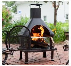 Best Type Of Chiminea 4 Ft Chiminea Outdoor Wood Fireplace Large Patio Backyard Fire