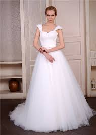 corset wedding dress a line princess wedding dress with cap sleeves ruching tulle