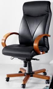 chaise de bureau en bois à le bois et le cuir des matériaux à la mode pour les meubles