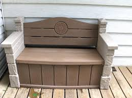 Waterproof Patio Storage Bench by Outdoorfantastic Black Outdoor Storage Bench Likable Wicker Patio