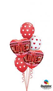 heart balloon bouquet shop balloons all