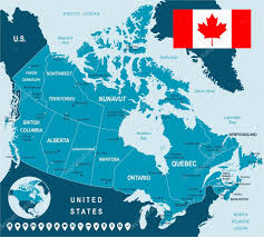 Calgary Alberta Canada Map by Canada Map Flag And Navigation Labels Illustration U2014 Stock