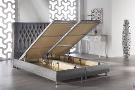 Storage Bed Sunset Prince Diego Grey Upholstered Storage Bed