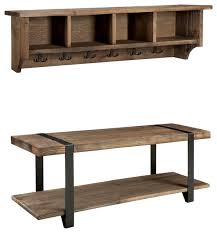 Wooden Storage Bench Modesto 48