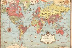 Children S Map Of The World by Kids Vintage World Map Muralswallpaper Co Uk