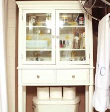 above the toilet cabinets shelves and antique bathroom cabinet