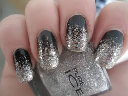 nailart 101 fashionable black and silver nails design