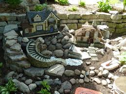 Simple Rock Garden Ideas by Outdoor Fairy Garden Ideas Christmas Lights Decoration