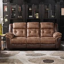Fabric Recliner Sofa Sheffield Two Tone Fabric Recliner Sofa In Brown Mocha Jcpenney
