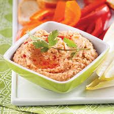 cuisiner les poivrons houmous aux poivrons rôtis recettes cuisine et nutrition