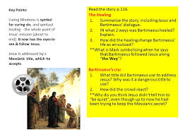 Was Bartimaeus Born Blind What Can You Remember Leper Woman With Haemorrhage Greek Woman