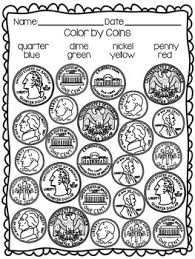 coin identification worksheet identifying coins coloring worksheet by tpt