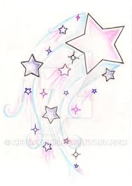 shooting star tattoo by metacharis on deviantart