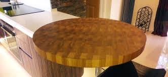 round oak end table end grain worktops norfolk oak