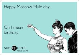 Day After Birthday Meme - happy moscow mule day oh i mean birthday birthday ecard