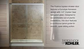 Bypass Shower Door Fluence 60 Frameless Bypass Shower Door