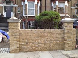cool front garden brick wall designs decor color ideas fancy and