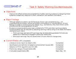 1 save it safety vehicles using adaptive interface technology